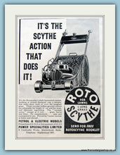 Load image into Gallery viewer, Rotoscythe Lawn Mowers. Set of 2 Original Adverts 1930s (ref AD4627)