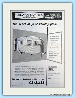 Berkeley Cavalier Caravan 1955 Original Advert (ref AD6356)