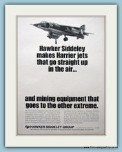 Load image into Gallery viewer, Hawker Siddeley Harrier Jets Set Of 2 Original Adverts 1968 (ref AD6284)