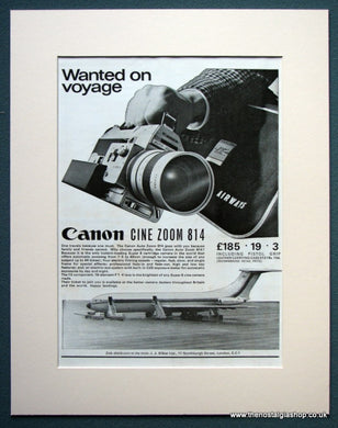 Canon Cine Zoom  814 1968 Original Advert (ref AD1069)
