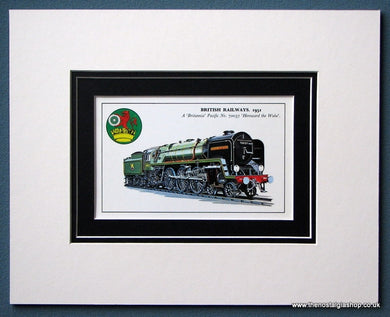 British Railways 'Britannia' Pacific No:70037 Mounted Print (ref SP19)