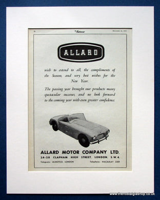 Allard Motor Company Ltd Message 1952 Original Advert (ref AD1451)