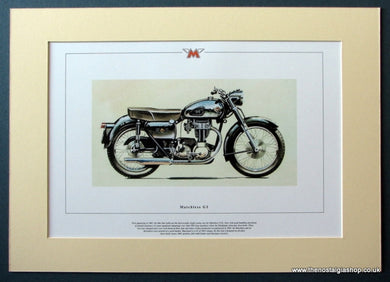 Matchless G3 Mounted Motorcycle Print (ref PR3031)