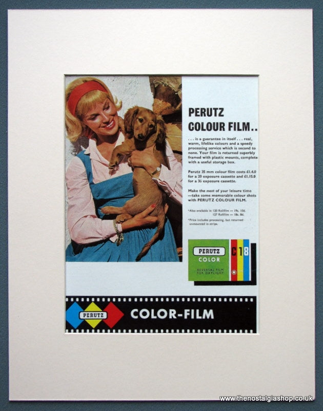 Perutz Colour Film 1963 Original Advert  (ref AD1080)