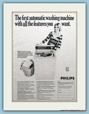 Philips Washing Machine Original Advert 1968 (ref AD3694)