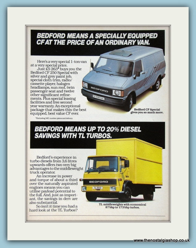 Bedford Vans  Original Advert 1983 (ref AD2990)