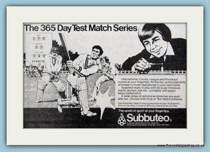 Subbuteo Cricket Original Advert 1980 (ref AD6406)
