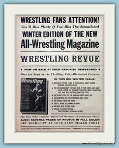 Wrestling Fans Review. Original Advert 1961  (ref AD5038)