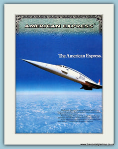 Concorde and American Express. Original Advert 1982 (ref AD3680)