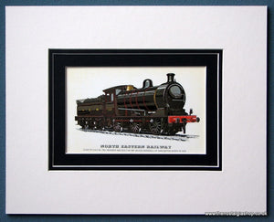North Eastern Railway Class P3 0-6-0 No: 790 Mounted Print (ref SP76)