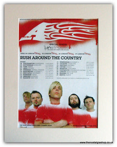 "A - ""Rush Around The Country"" tour original advert(AD5003K)"