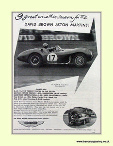 Aston Martin Wins Original Advert 1953 (ref AD6757)