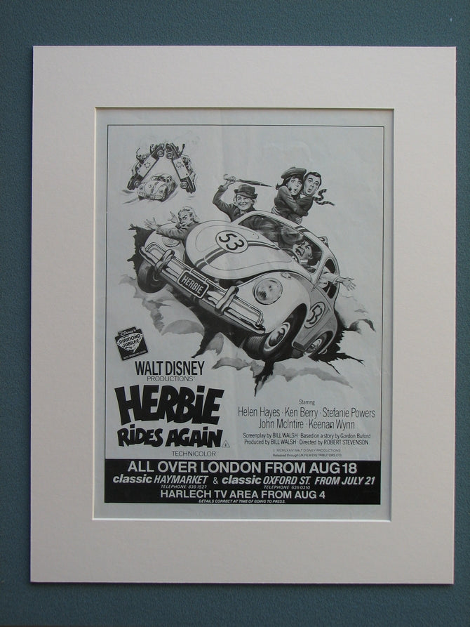 Herbie Rides Again 1983 Original advert (ref AD654)