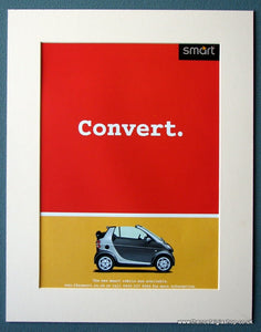 Smart Cabrio Convert  2001 Original Advert (ref AD1238)