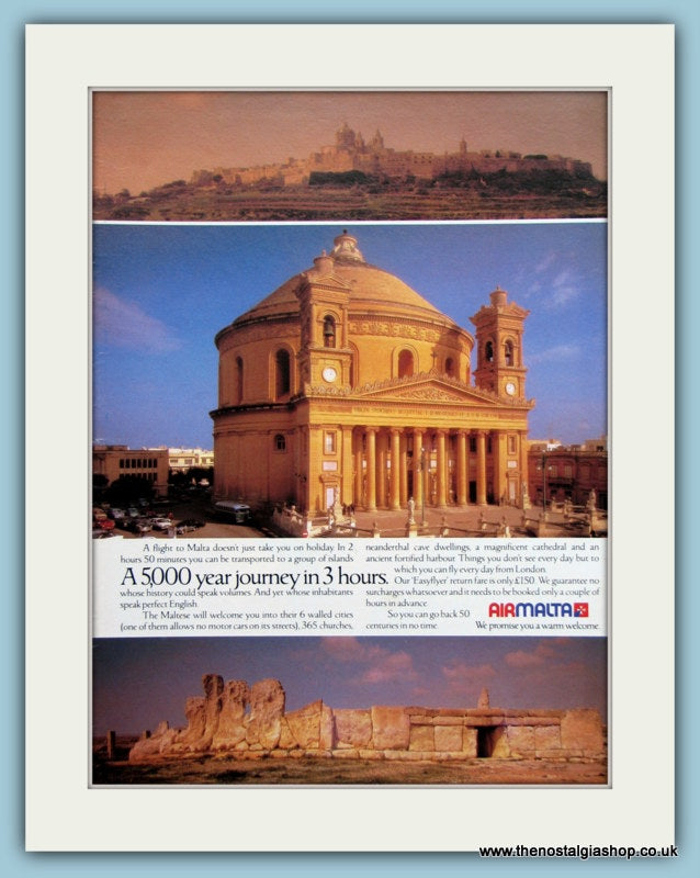 Airmalta Original Advert 1983 (ref AD2132)