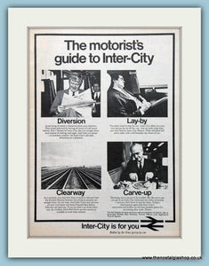 Inter-City Set of 2 Original Adverts 1972/73 (ref AD2284)