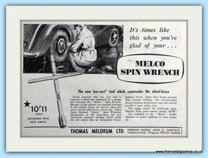 Melco Spin Wrench Original Advert 1953 (ref AD6318)