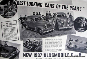Oldsmobile 6 and 8. Original Advert 1936 (ref AD4054)