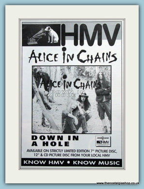 Alice in Chains Down In A Hole. Original Advert 1993 (ref AD3098)