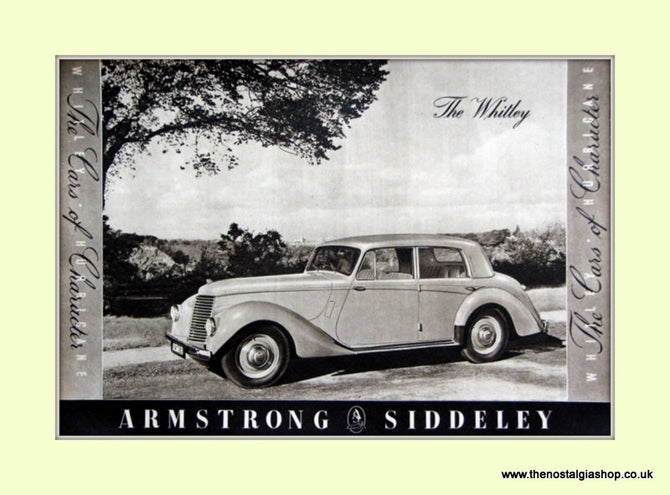 Armstrong Siddeley The Whitley Original Advert 1952 (ref AD6670)