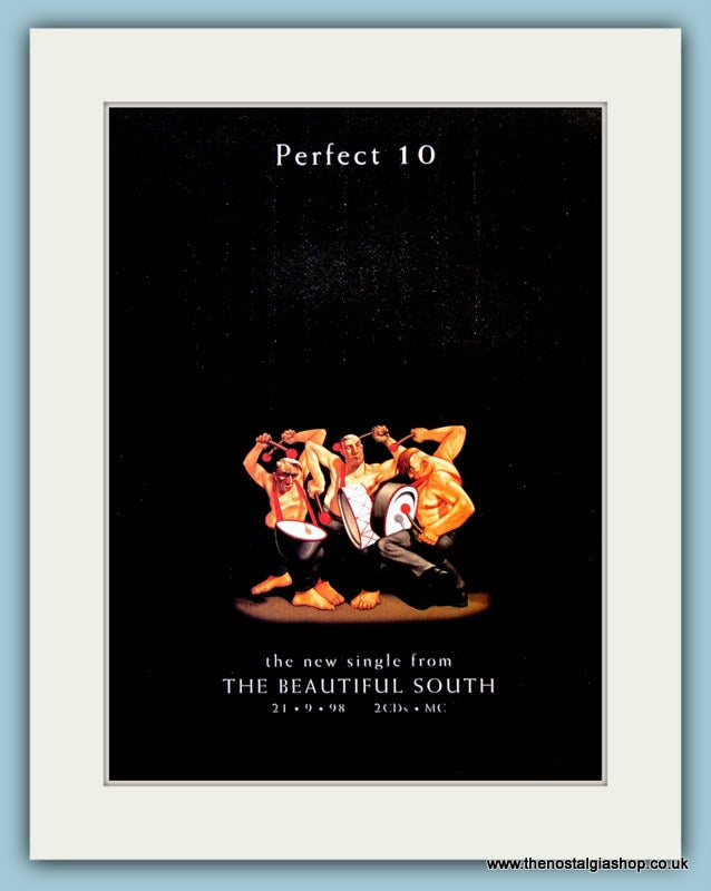 The Beautiful South Perfect 10 Original Music Advert 1998 (ref AD3424)