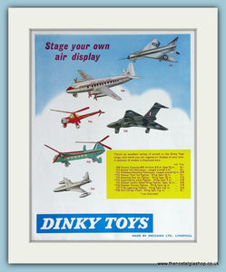 Dinky Toys Aircraft. Original Advert 1961 (ref AD2832)