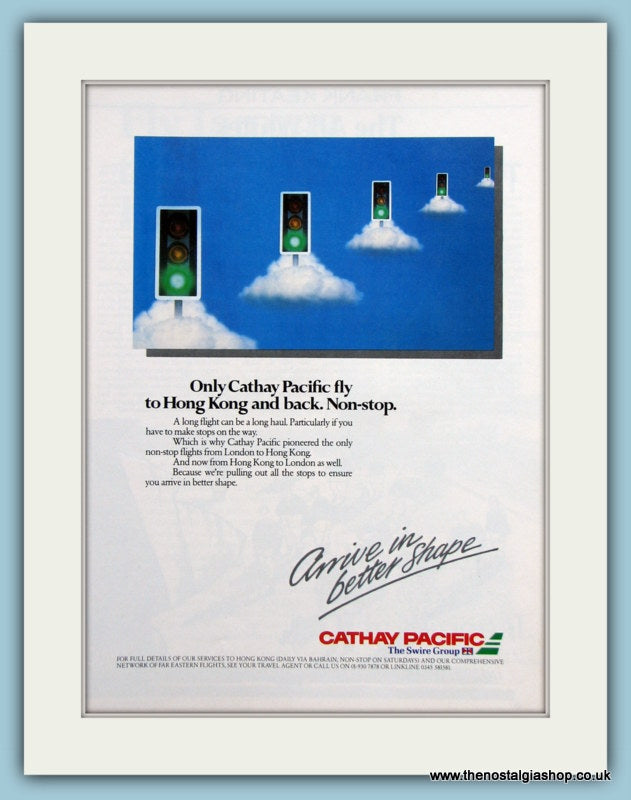 Cathay Pacific Original Advert 1985 (ref AD2133)