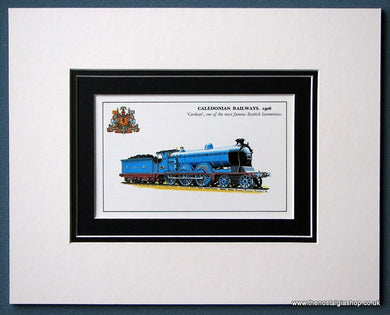 Cardean Caledonian Railways 1906 Mounted Print (ref SP4)