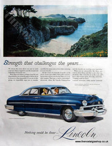 Lincoln Cosmopolitan Sedan 1951 Original Advert (ref AD4068)