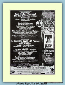 T In The Park Strathclyde Country Park 1995 Original Advert (ref AD9027)