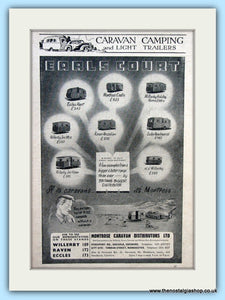 Montrose Caravans Earls Court Original Advert 1953 (ref AD6352)