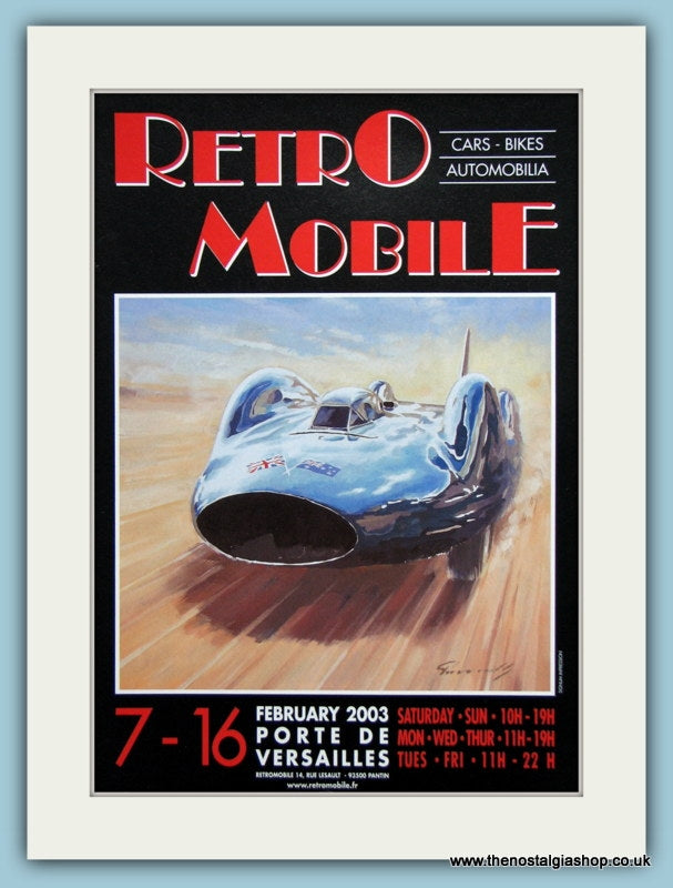 Retro Mobile Event, Versailles. Original Advert 2003 (ref AD2000)