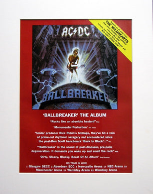 AC DC 1996  Original Adverts set of 2 (ref AD895)