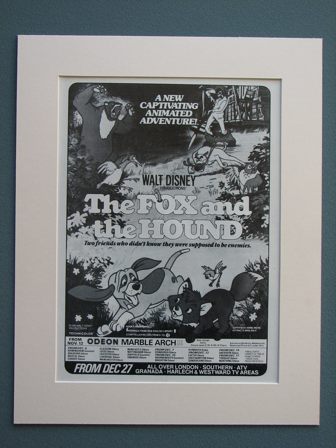 The Fox and The Hound 1981 Original advert (ref AD663)