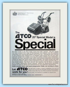 "Atco 20"" Special. Set of 2 Original Adverts 1960s (ref AD4644)"
