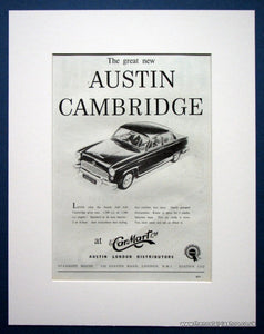 Austin Cambridge A40, A50. Original advert 1954 (ref AD1373)