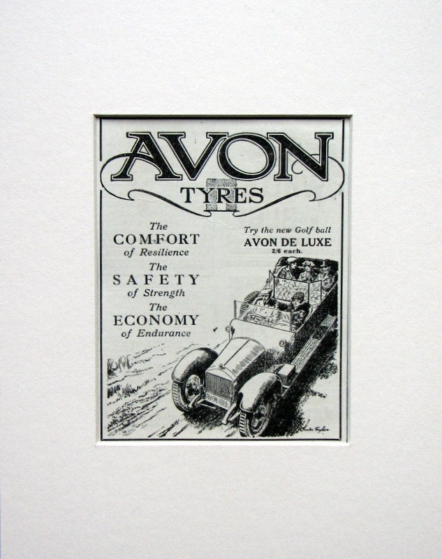 Avon Car Tyres. Original advert 1915 (ref AD1521)