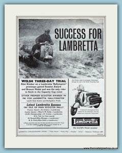 Lambretta Welsh Trials 1961 Original Advert (ref AD4074)