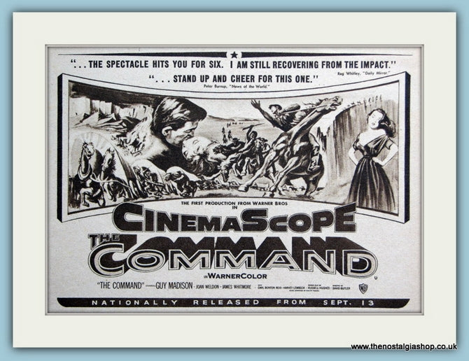 The Command - Guy Madison, 1954 Original Film Advert (ref AD3342)