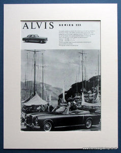 Alvis Series III 1965 Original Advert (ref AD1461)