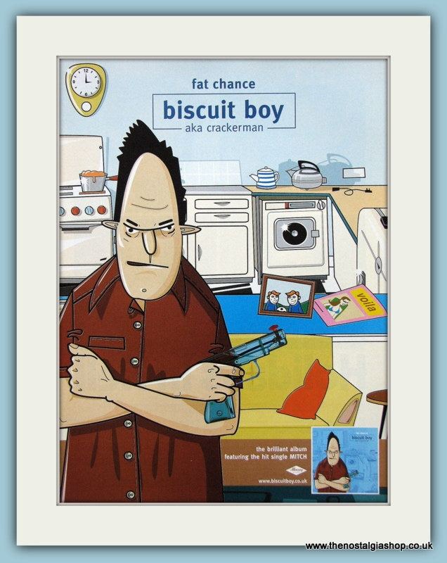 Biscuit Boy Fat Chance Aka Crackerman 2001 Original Music Advert (ref AD3442)
