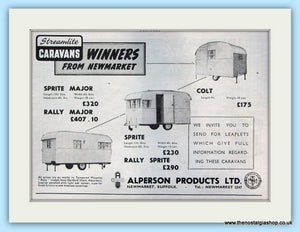 Streamlite Alperson Caravans Original Advert 1952 (ref AD5044)