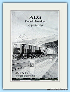 AEG Electric Traction Engineering Original Advert 1951 (ref AD6506)