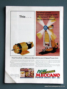 Meccano Model Sets. Set of 2 1966 Original Adverts (ref AD2860)