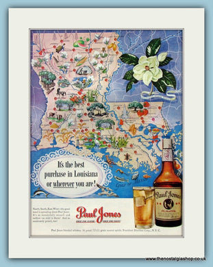 Paul Jones Whiskey Original Advert 1950 (ref AD8313)