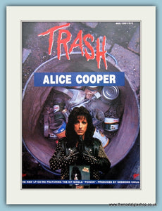 Alice Cooper Trash 1989 Original Advert (ref AD3133)