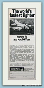 Royal Navy, Phantom Jet. Set of 3 Original Adverts 1960's (ref AD6051)