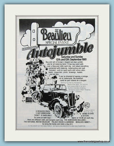 Beaulieu Autojumble Event 1981. Original Advert (ref AD2013)