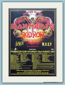Monsters Of Rock Here To Eternity Festival Advert 1992 (ref AD3369)