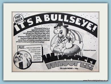 Whoopee  With Free Bullseye Game Original Advert 1982 (ref AD6411)